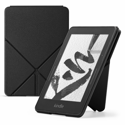 Amazon Protective Leather Cover for Kindle Voyage, Black Color | Kindletrends