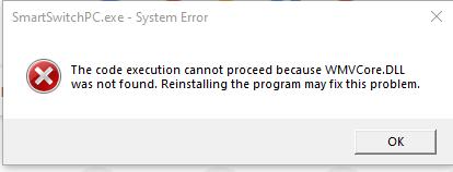 Cara mengatasi Error WMVCore.Dll pada saat menginstal Samsung Switch