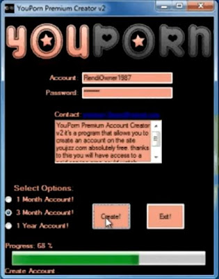 this is youporn premium account creator 2013 screenshot