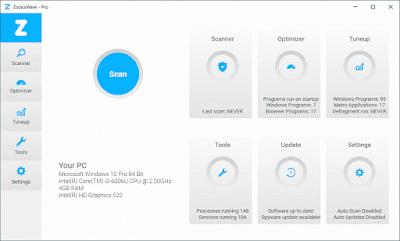 تحميل برنامج مسح ملفات التجسس وتسريع الجهاز ZookaWare Pro 2020