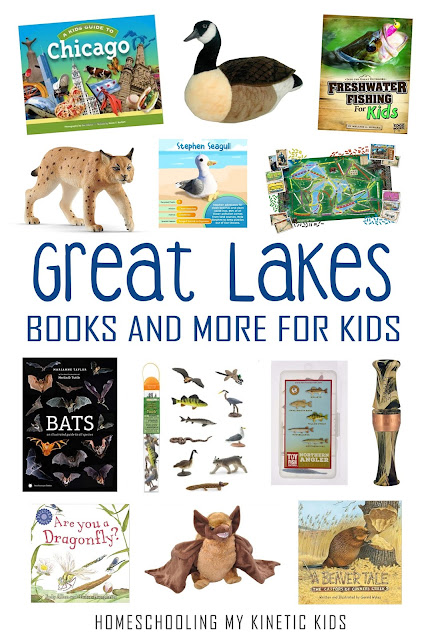 Learn about the Great Lakes with these awesome books and toys!  Great for a unit study about the region of the USA, a family vacation, or to remember a relative.