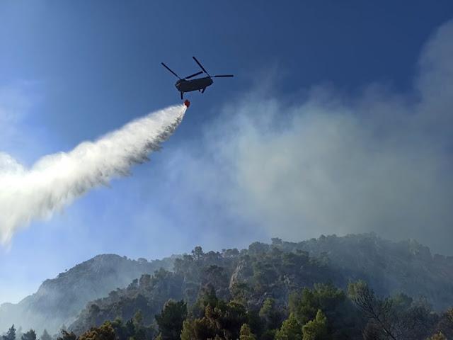 Ενημέρωση από την Περιφέρεια Πελοποννήσου για την μεγάλη φωτιά στο Σοφικό