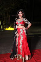 Sirisha Dasari in Red Ghagra Backless Choli ~  028.JPG