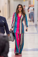 Priyanka Chopra in Colorful Jumpsuit arriving at JFK Airport New York 18 June 2017 ~  Exclusive 029.jpg