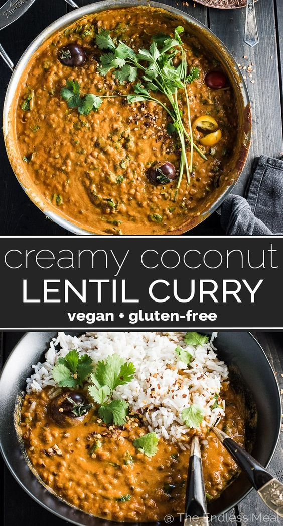 This easy to make Creamy Coconut Lentil Curry is a healthy vegan recipe that makes a perfect Meatless Monday dinner recipe. It takes less than an hour (mostly hands-off time) to make and is packed…