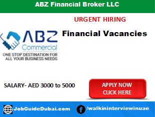 ABZ Financial Broker LLC career for sales executive job in Dubai