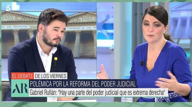 Gabriel Rufián y Macarena Olona