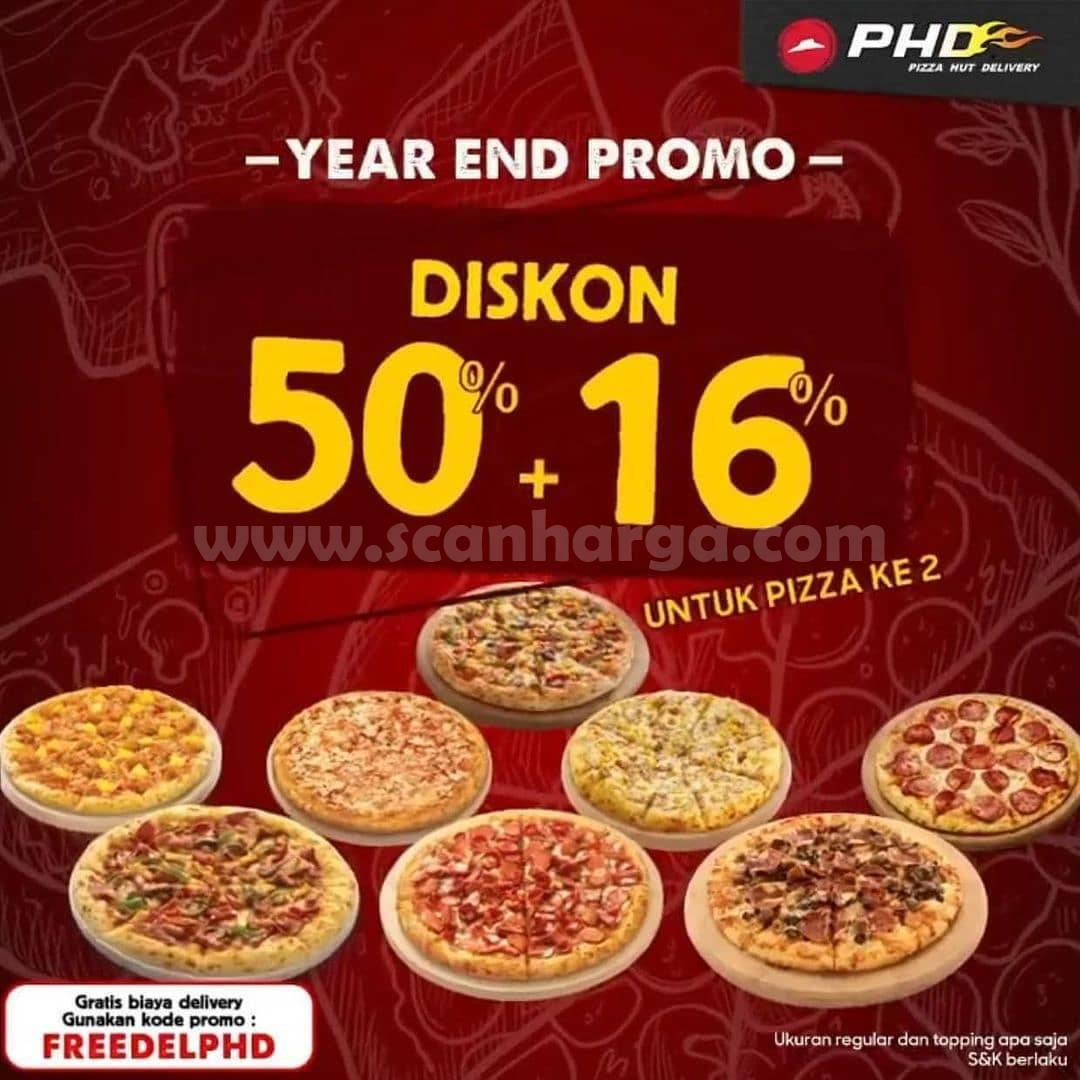 PHD Promo YEAR END SPECIAL – DISKON 50% + 16% untuk pemesanan Pizza ke Dua