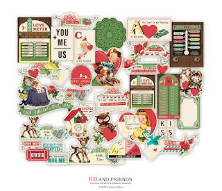 KB and Friends Love Meter Valentine's Day Scrapbook Ephemera
