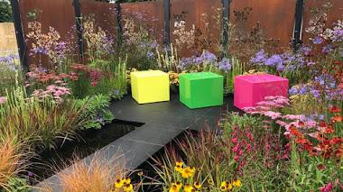 Sacando los colores al jardín y a la vida. Colour Box Garden en Hampton Court 2017