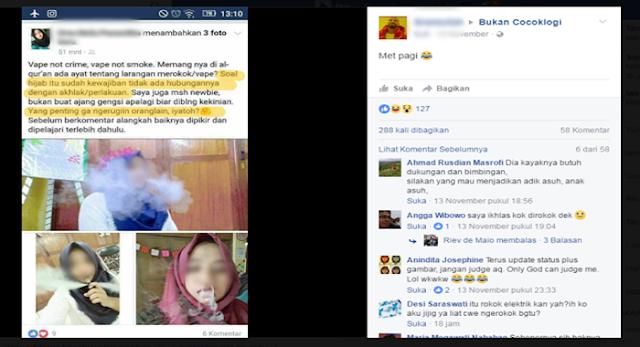 Astaghfirullah, Foto Gadis Berhijab Ini Viral di Facebook Karena Ia Sedang Menghisap...
