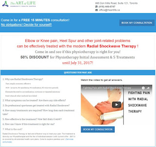 Shockwave Therapy Discount: The Art of Life Promotion on Physiotherapy