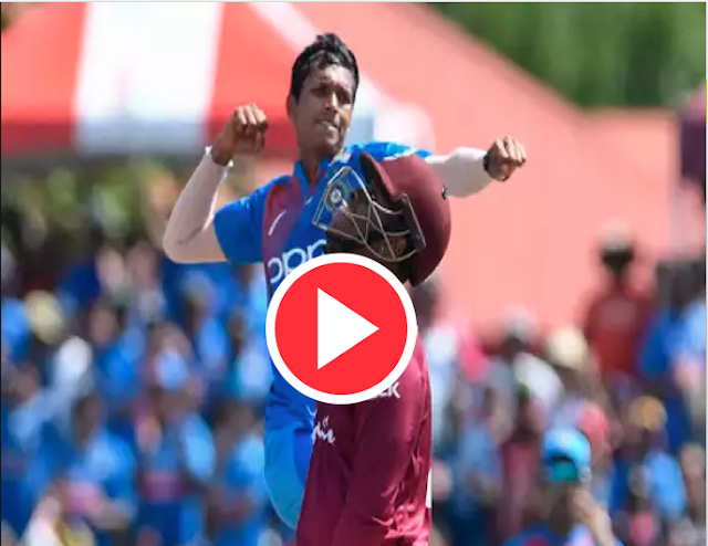 Watch The Video :  Dream 3 wickets for Navdeep Saini against WestIndies in 1st T20