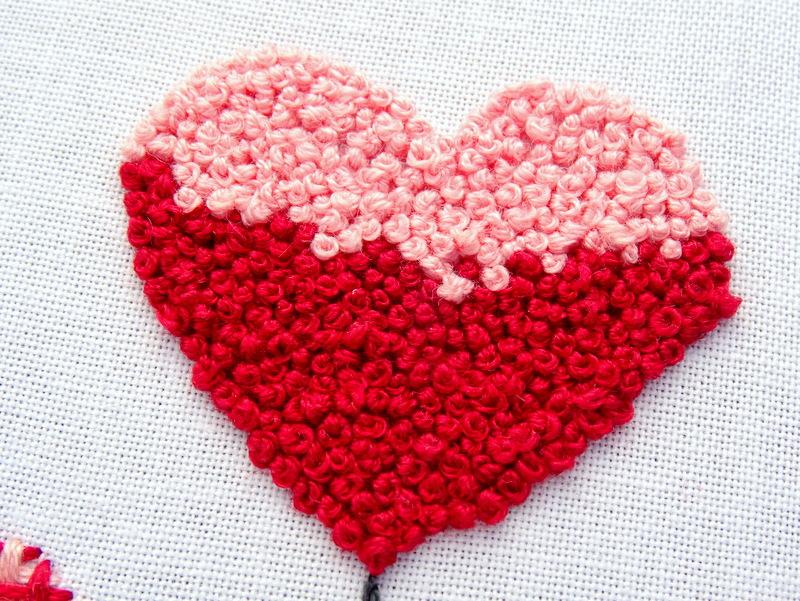 Hướng dẫn thêu trái tim bằng mũi sa hạt - Hình 1