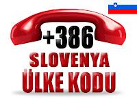 +386 Slovenya ülke telefon kodu