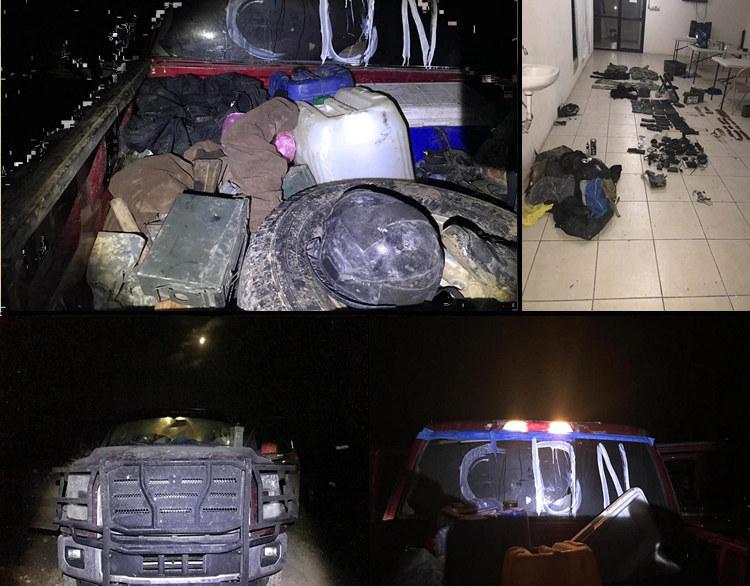 Sicarios del CDN desatan fuerte enfrentamiento contra policías Anáhuac, NL: sicarios huyen y dejan fuerte arsenal.