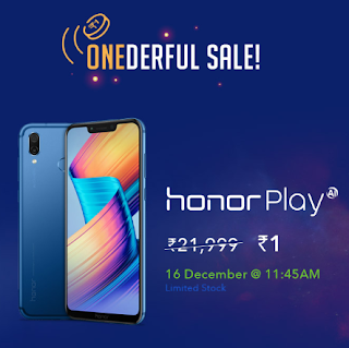 Tricks To Buy Honor Play Mobile @ ₹1 from Honor Flash Sale