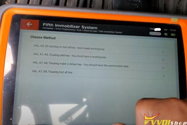 xhorse key tool plus audi a4 akl-10
