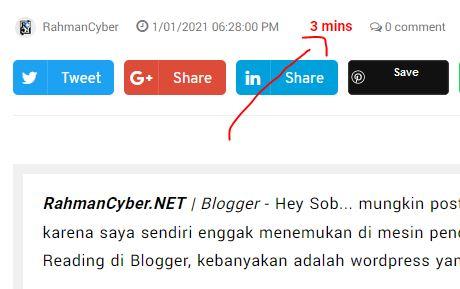 estimated reading blogger widget
