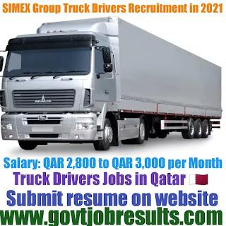 SIMEX Group Truck Driver Recruitment 2021-22