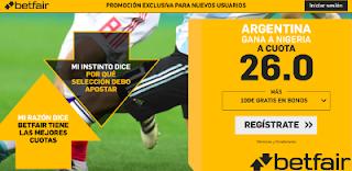 betfair supercuota victoria de Argentina a Nigeria 26 junio