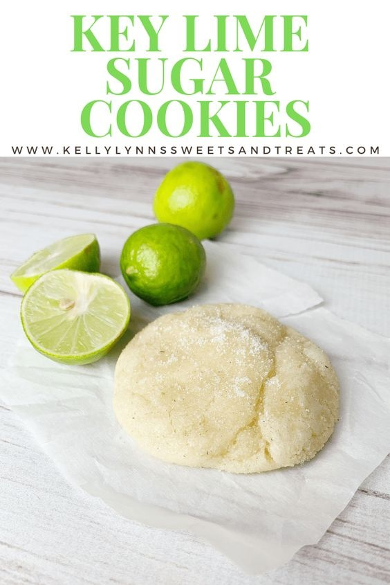 Key Lime Sugar Cookies Print Recipe