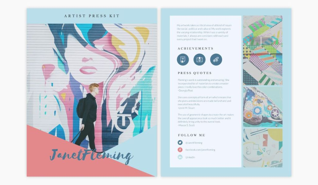 Create Media Kit for Business, Template