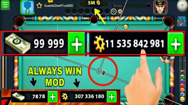 Unlimited Coins 8 ball pool Faster