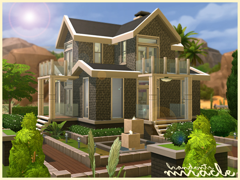 Traditional Brick Quot Miracle Quot Sims 4 Houses