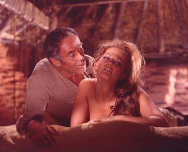 Claudia Cardinale as Jill McBain and Henry Fonda as Frank in Once Upon a Time in the West aka C'era una volta il West , Directed by Sergio Leone