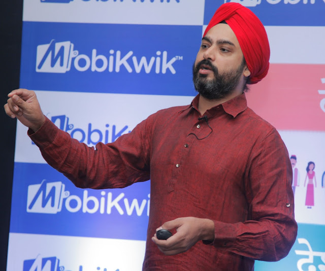 Bipin Preet Singh (Founder & Director) at the launch of MobiKwik 'lite'-min