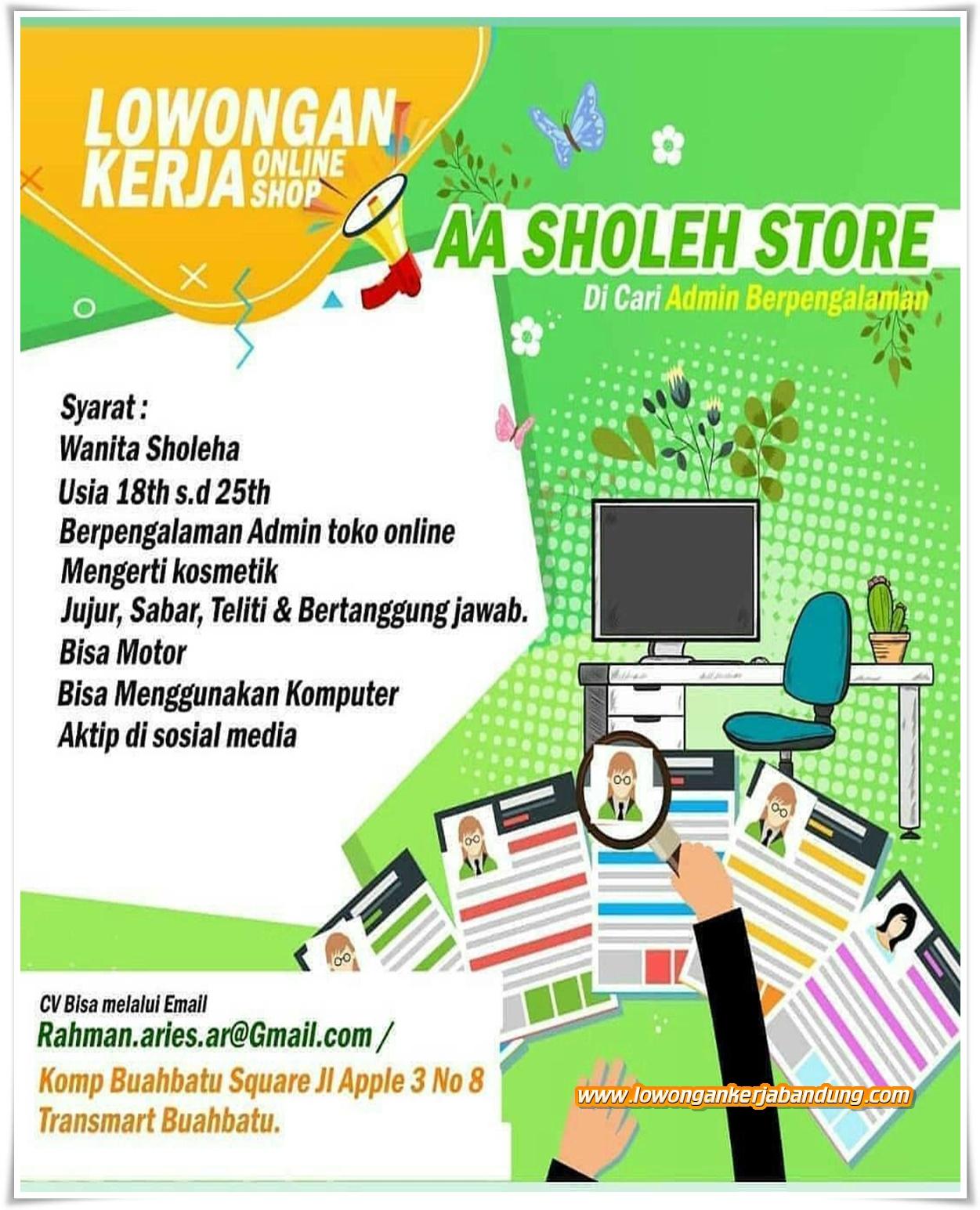 Lowongan Kerja Bandung Admin Online Shop - Lowongan Kerja ...