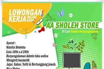 Lowongan Kerja Bandung Admin Online Shop