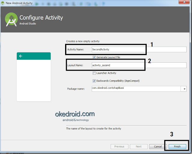 Configure Activity Android Studio
