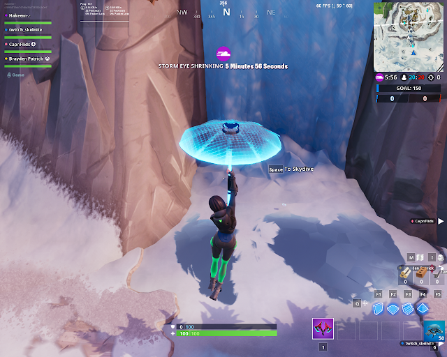 Accessible by using Sunbird Spray on a frozen waterfall FORTBYTE Mission #61