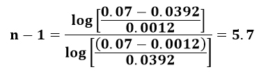 Ecuación de McCabe-Smith en el ejemplo 2