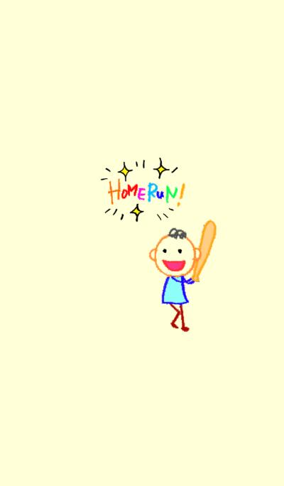 English scribbling(Baseball version)