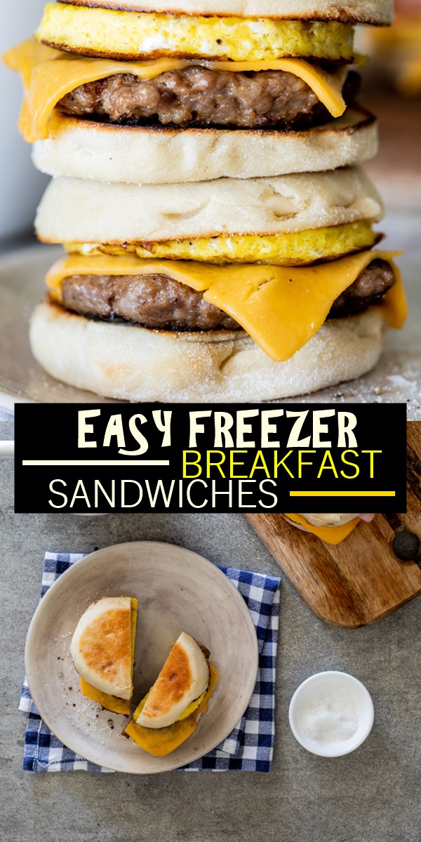EASY FREEZER BREAKFAST SANDWICHES #Breakfastideas