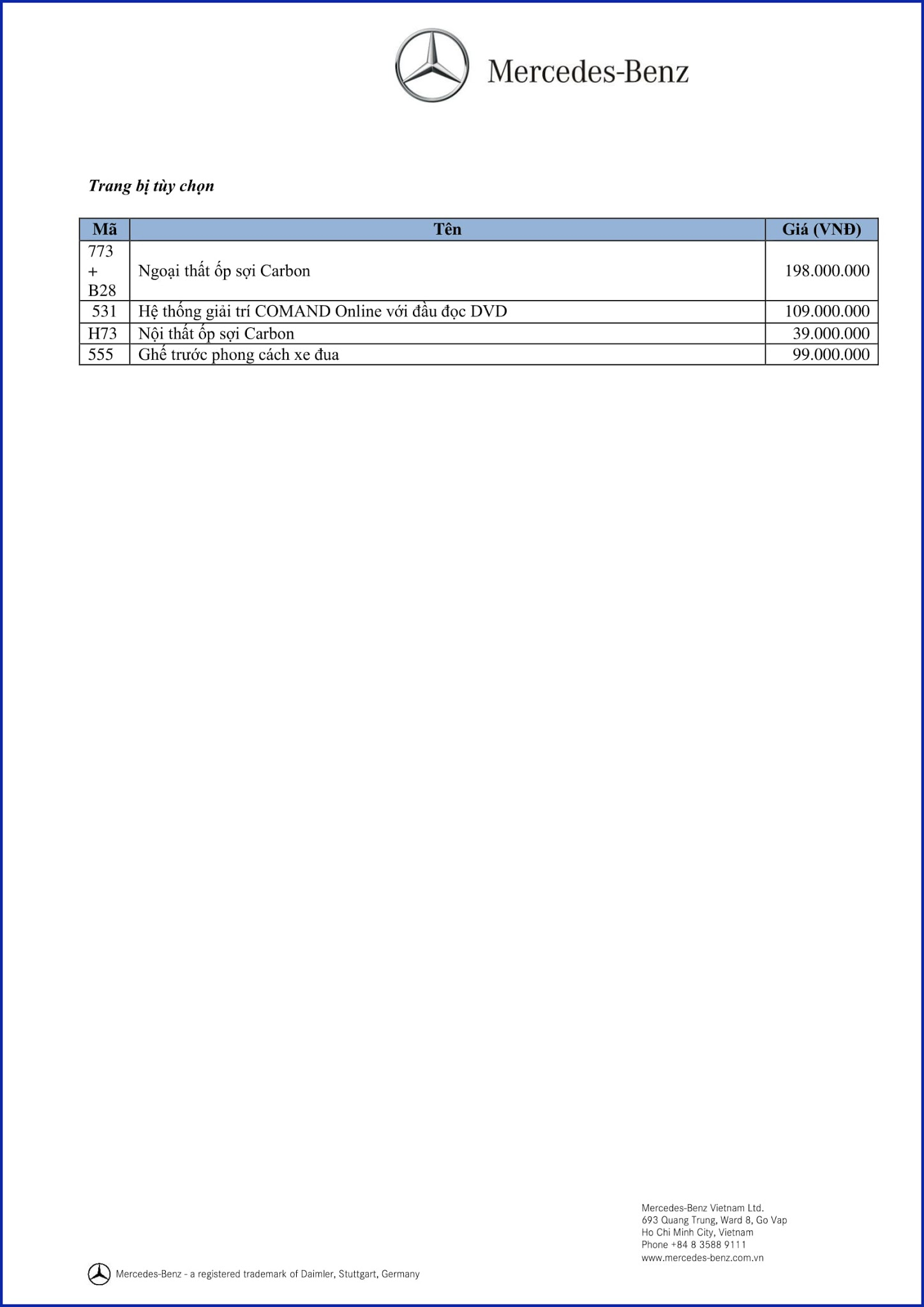 Bảng thông số kỹ thuật Mercedes AMG GLA 45 4MATIC 2018 tại Mercedes Trường Chinh