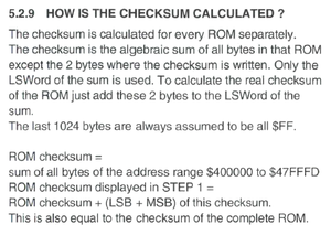 5.2.9 HOW IS THE CHECKSUM CALCULATED?