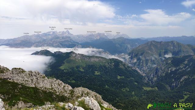 Vista de los Picos de Europa desde el Pico Zorru