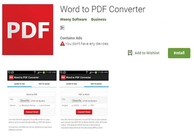 تحويل وورد إلى PDF تحميل تطبيق Word to PDF Converter