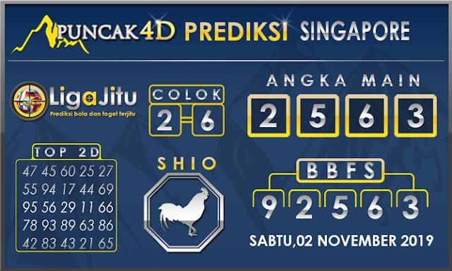 PREDIKSI TOGEL SINGAPORE PUNCAK4D 02 NOVEMBER2019