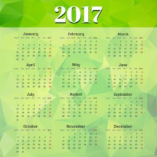 2017カレンダー無料テンプレート76