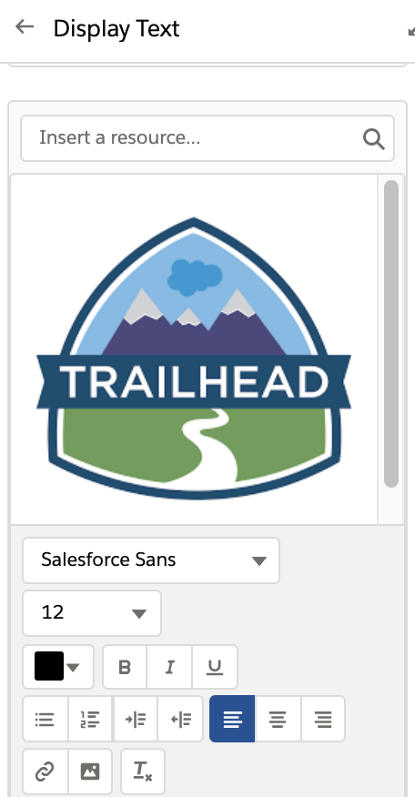 Images in a Salesforce Flow