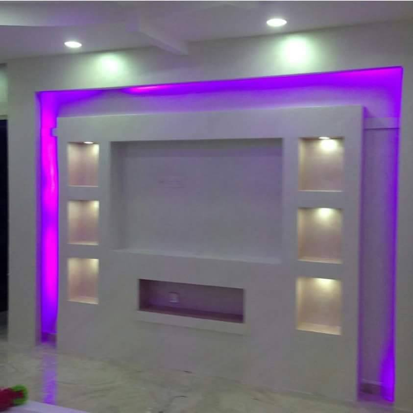 25 Popular Custom Gypsum Board TV Units - Decor Units