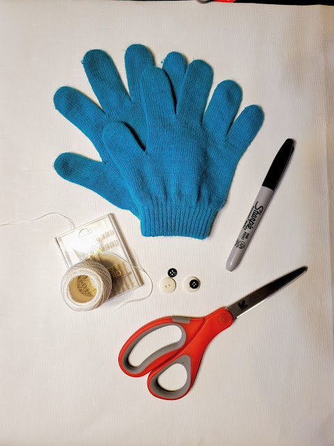 turn old gloves into a toy