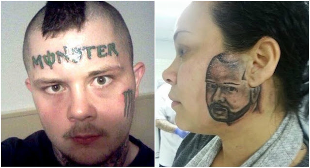 11 pessoas que arruinaram seus rostos com tatuagens horríveis