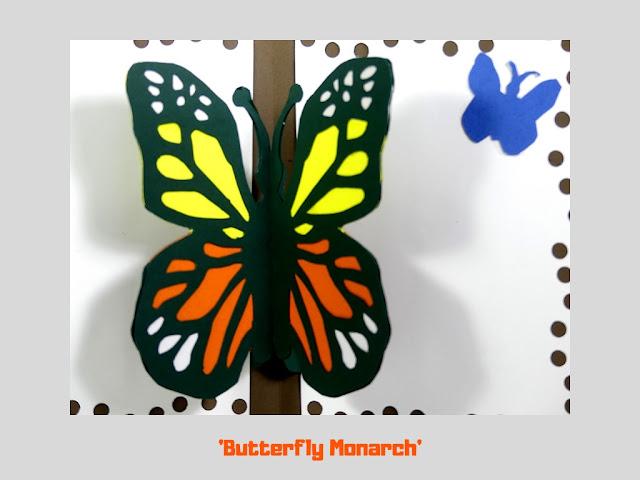 Butterfly Monarch, pop up card by Minaz Jantz