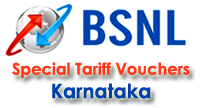 BSNL Karnataka STVs / Rate Cutters for 2G and 3G Mobile Services